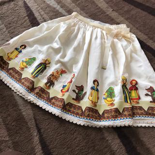ジェーンマープル(JaneMarple)のジェーンマープル グリムマリオネットデコパージュスカート(ひざ丈スカート)