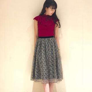 Lily Brown - リリーブラウン 刺繍 スカート