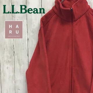 エルエルビーン(L.L.Bean)のエルエルビーン フリース フルジップハイネックパーカー レッド ※着用画像有り(パーカー)