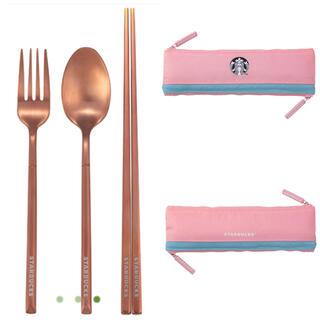 Starbucks Coffee - スタバ 台湾 スターバックス カトラリーセット 桜 さくら 限定 ピンク