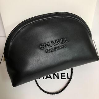CHANEL - シャネル 2020年最新 PARFUMS  ノベルティ ポーチ ブラック 箱付き