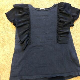ジーユー(GU)のGU 肩フリル Tシャツ  女の子 130(Tシャツ/カットソー)
