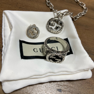 Gucci - GUCCI グッチ 3点セット ピアス リング ネックレス