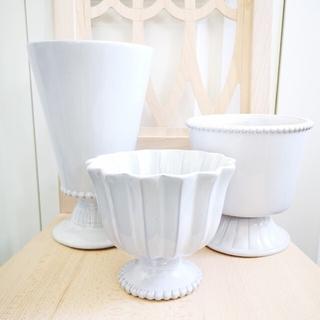 3点セットH&M HOMEフラワーベース+プランターセラミック陶器花瓶植木鉢(プランター)