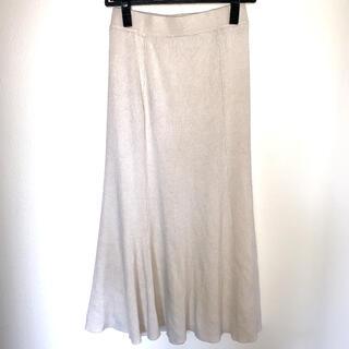 オペークドットクリップ(OPAQUE.CLIP)のオペーク プリーツスカート ロングスカート ベージュ サイズ38(ロングスカート)