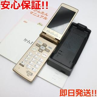 キョウセラ(京セラ)の新品同様 au KYF32 かんたんケータイ ゴールド (携帯電話本体)