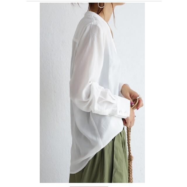 antiqua(アンティカ)のアンティカ  極上Vネックシャツ レディースのトップス(シャツ/ブラウス(長袖/七分))の商品写真