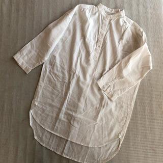 ZARA - リネンシャツ オーバーサイズシャツ