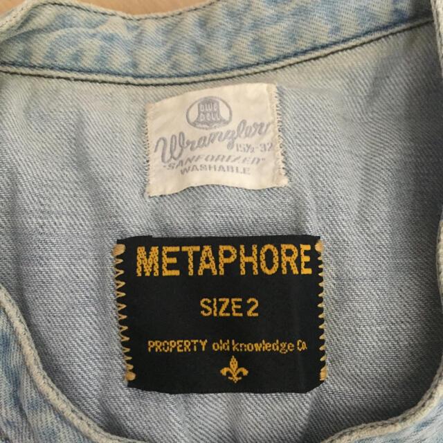 Wrangler(ラングラー)のラングラー メタファー コラボ デニムシャツ メンズのジャケット/アウター(その他)の商品写真