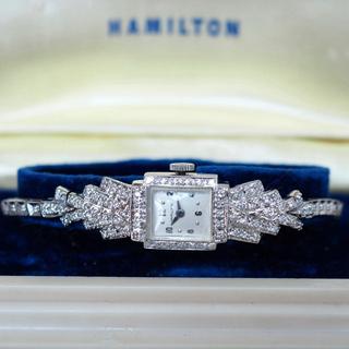ハミルトン(Hamilton)のOH済✨美品 ハミルトン K14 ダイヤ86P アンティーク✨ロレックス オメガ(腕時計)