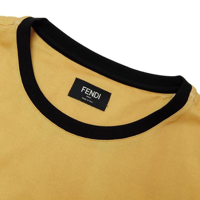 FENDI(フェンディ)のフェンディ  半袖Tシャツ  イエロー コットン クルーネックTシャツ メンズのトップス(Tシャツ/カットソー(半袖/袖なし))の商品写真