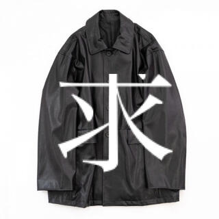 サンシー(SUNSEA)のstein FAKE LEATHER CAR JACKET(レザージャケット)