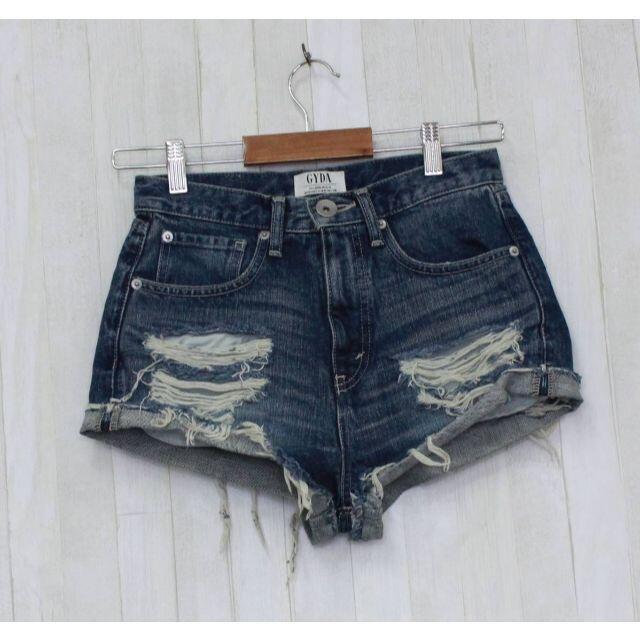 GYDA(ジェイダ)のGYDA J/W ダメージデニムショートパンツ サイズ/M  GY-3 レディースのパンツ(ショートパンツ)の商品写真