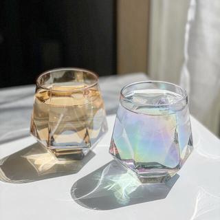 スリーコインズ(3COINS)の3COINS(スリーコインズ)【WEB限定商品】六角 オーロラグラス 2個セット(グラス/カップ)