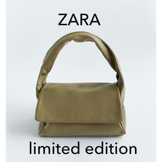 ZARA - ZARA リアルレザーバッグ カーキ limited edition 新品