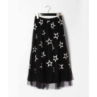 GRACE CONTINENTAL - 美品!スター刺繍チュールスカート グレースコンチネンタル
