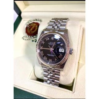 ロレックス(ROLEX)のROLEX ロレックス✨腕時計 デイトジャスト ブラックローマン オイスター(腕時計)