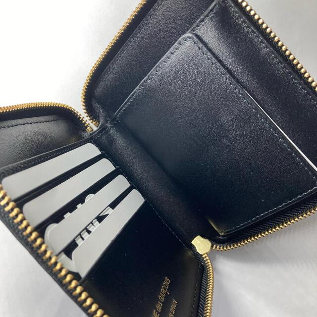 COMME des GARCONS(コムデギャルソン)のCOMME des GARCONS コムデギャルソン ファスナー折財布 ブラック メンズのファッション小物(折り財布)の商品写真
