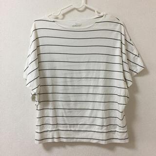 MUJI (無印良品) - コットンレーヨンワイドドルマンTシャツ