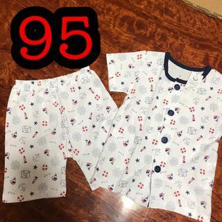 新品 イカリ パジャマ 95  男の子 海 海軍(パジャマ)