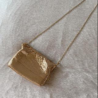 グリモワール(Grimoire)のvintageレトロ古着ゴールドスパンコールショルダーbag(ハンドバッグ)