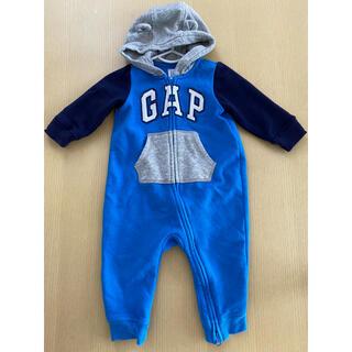 ベビーギャップ(babyGAP)のbaby gap*ベビーギャップ くま耳 ロンパース カバーオール 70cm(カバーオール)