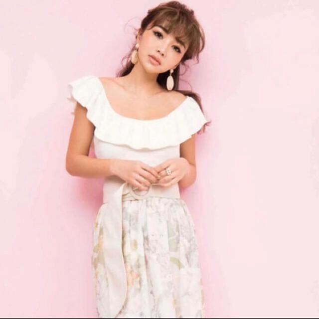 eimy istoire(エイミーイストワール)のeimy♡ バックフリルニットトップス レディースのトップス(カットソー(半袖/袖なし))の商品写真