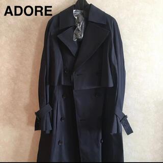 ADORE - 【新品】ADORE バイカラーシャンブレーコート  ネイビー トレンチコート