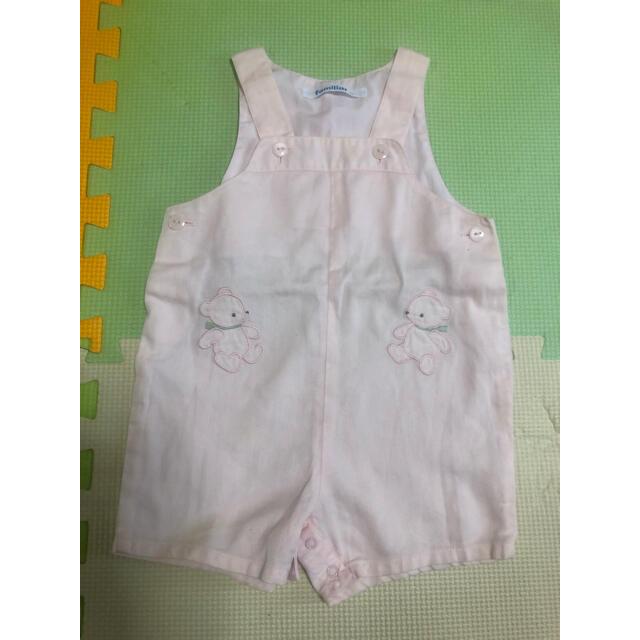 familiar(ファミリア)のファミリア オーバーオール ロンパース70 キッズ/ベビー/マタニティのベビー服(~85cm)(ロンパース)の商品写真