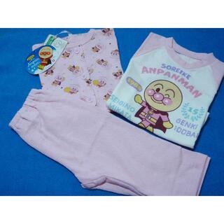 アンパンマン - 新品 100cm アンパンマン 女の子さらさら2トップパジャマ ピンク