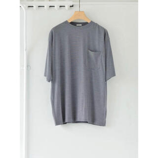 COMOLI - 【新品未使用】comoli ウール天竺 Tシャツ ボーダー サイズ2