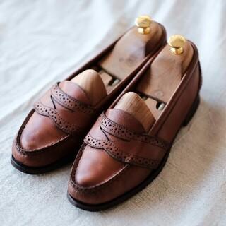 ポロラルフローレン(POLO RALPH LAUREN)のラルフローレン ローファー ブラウン 24.5cm(ローファー/革靴)