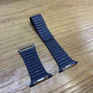 Apple Watch - apple watch [純正]レザーループ 42-44mm ミッドナイトブルー