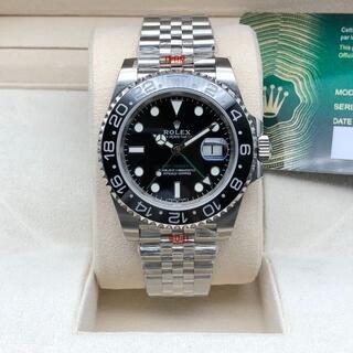 メンズ腕時計 自動巻 オイスターパーペチュアル 黒文字盤
