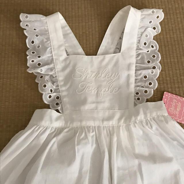 Shirley Temple(シャーリーテンプル)のシャーリー エプロン S キッズ/ベビー/マタニティのキッズ服女の子用(90cm~)(ワンピース)の商品写真
