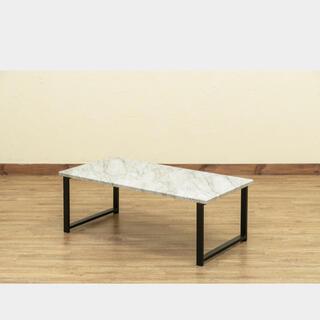 激安新品未使用!大理石風センターテーブル(ローテーブル)