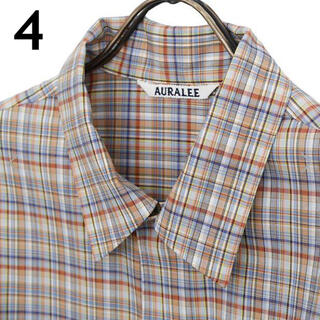 UNITED ARROWS - オーラリー 21ss チェックシャツ サイズ4