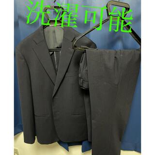 アオキ(AOKI)のAOKI スーツ セットアップ 上下 ネイビー 洗濯可 (セットアップ)