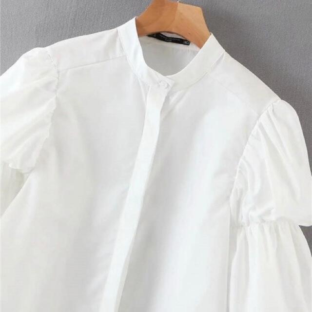 ZARA(ザラ)の袖 ボリューム ブラウス シャツ ギャザー バルーン ザラ dholic レディースのトップス(シャツ/ブラウス(長袖/七分))の商品写真