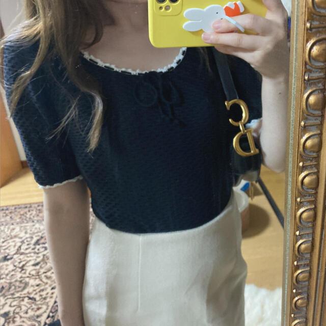 ZARA(ザラ)のribbon tops レディースのトップス(Tシャツ(半袖/袖なし))の商品写真