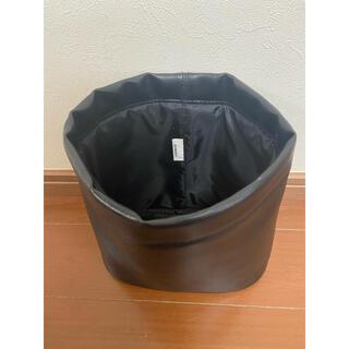 車内用 ゴミ箱 レザー ブラック 重り内臓で動かない 小物ケースにも