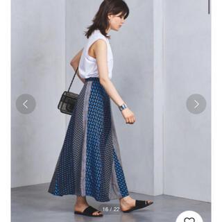 UNITED ARROWS - 新品タグ付💙UNITED ARROWS マルチプリント ラップスカート