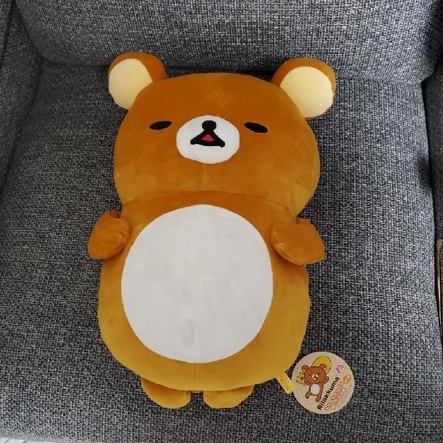 リラックマRilakkumaもちもちまんぷくぬいぐるみ枕 非売品未使用 エンタメ/ホビーのおもちゃ/ぬいぐるみ(キャラクターグッズ)の商品写真