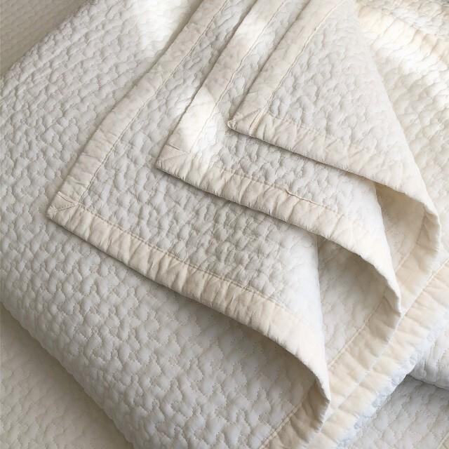 韓国イブル クラウド柄アイボリー お昼寝 ラグ ベッドカバー 200×200 キッズ/ベビー/マタニティの寝具/家具(ベビー布団)の商品写真