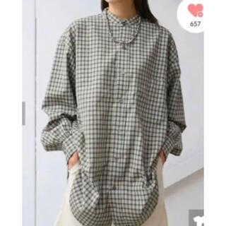 Kastane - リサイクルヤーンチェックオーバーシャツ