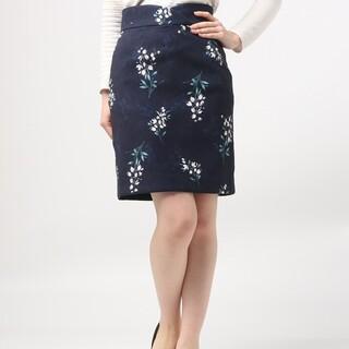 プロポーションボディドレッシング(PROPORTION BODY DRESSING)の【匿名配送】リリーブラッシュプリントタイトスカート(ひざ丈スカート)