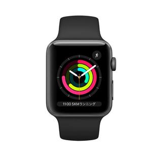Apple Watch - Apple Watch スペースグレイアルミニウムケースとブラックスポーツバンド