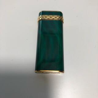 カルティエ(Cartier)の希少 カルティエ ガスライター オーバル型 グリーン(タバコグッズ)