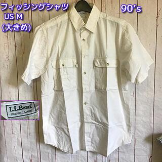 エルエルビーン(L.L.Bean)のL.L.Bean 90's 半袖 フィッシングシャツ US M オフホワイト (シャツ)