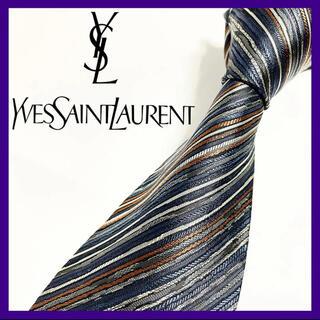 イヴサンローランボーテ(Yves Saint Laurent Beaute)のイヴ・サンローラン シルクネクタイ 日本製 良デザイン 定番ブランド(ネクタイ)